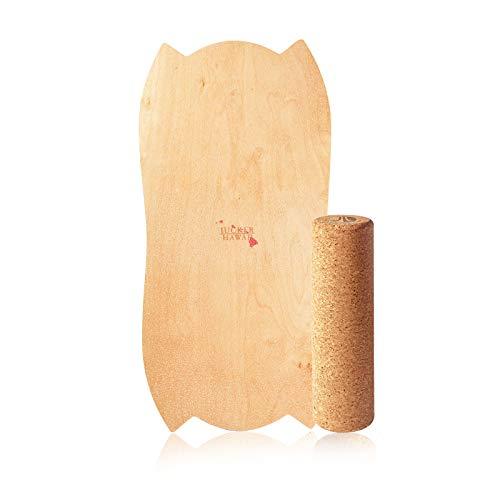 JUCKER HAWAII Balance Board Homerider Hula - Balanceboard Set di Equilibrio con Rullo di Sughero