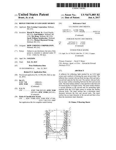Reflector for an LED light source: United States Patent 9671085 (English Edition)