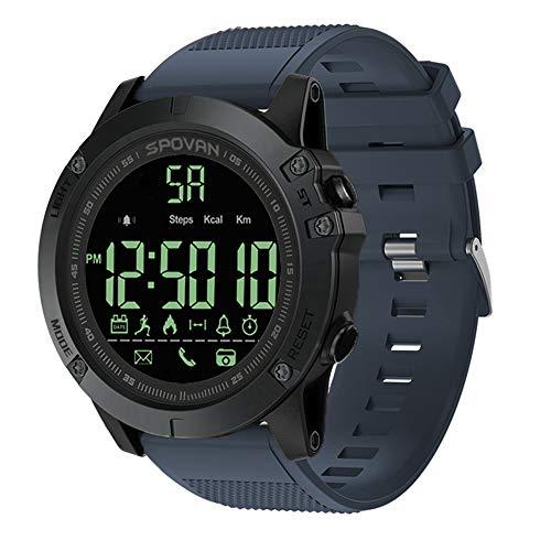 Lixada Outdoor Digital Smart Sportuhr für Herren mit Pedometer-Armbanduhr für iOS und Android 50M Wasserdicht