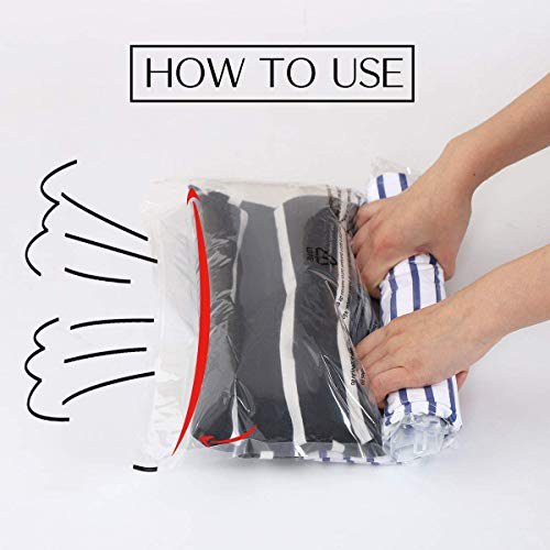 410y+SkuqOL - VacBest Compression Bags, Travel Space Saver Bags for Clothes (12 Travel)