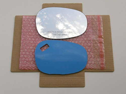 CHECK SIZE - New Replacement Mirror Glass with FULL SIZE ADHESIVE for BMW 128 135 323 328 335 M3 Passenger Side View Right RH