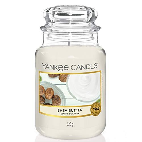 Yankee Candle Duftkerze im Glas (groß) | Shea Butter | Brenndauer bis zu 150 Stunden
