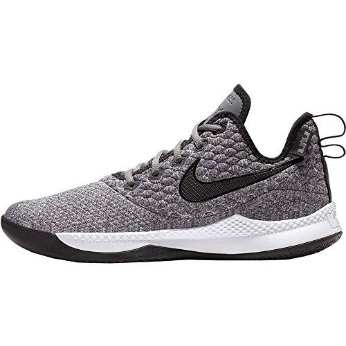 NIKE Mens Lebron Witness III Basketball Shoe (8.5 M US, Dark Grey/Black/White)