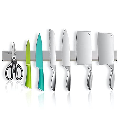 MUNNK - Listón magnético para cuchillos (50 cm, extraancho y grueso)