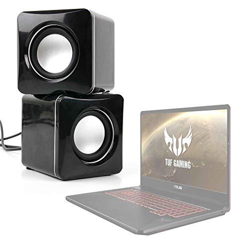 DURAGADGET Altavoces Compactos para Portátil ASUS TUF Gaming FX505GD-BQ137, FX505GD-BQ142, FX505GD-BQ326T, FX505GD-BQ326T - Tamaño Mini - Conexión Mini Jack + USB