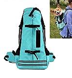 Portador de Mochila para Mascotas para Perros pequeños medianos y Grandes Cómodo Acolchado en la Espalda y los Hombros Bolsa de Transporte Deportiva para Perros Transpirable Viaje Montar a