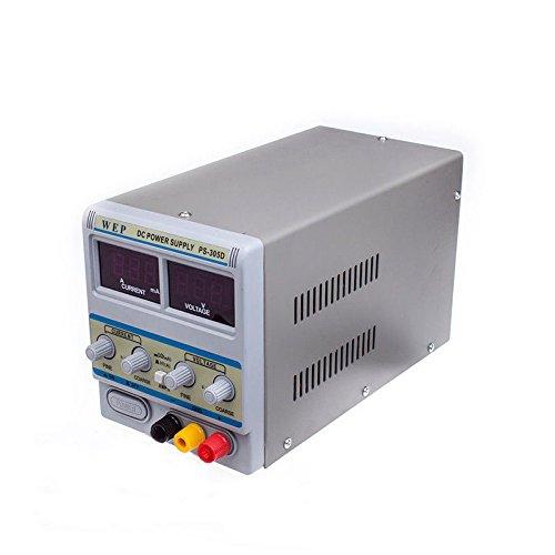 OUKANING Labornetzgerät, Labornetzteil, Regelbar 0-30V / 0-5A DC Stabilisiertes Schaltnetzteil mit Digitalanzeige