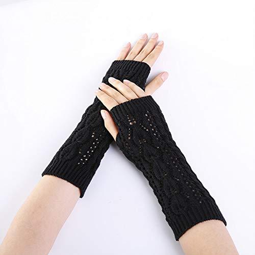MKDASFD 2 Paar Mode Herbst Winter Finger Schwarz Handschuhe Für Frauen Erwachsene Warme Baumwolle Frau Fäustlinge Winter Frau Handschuhe#4