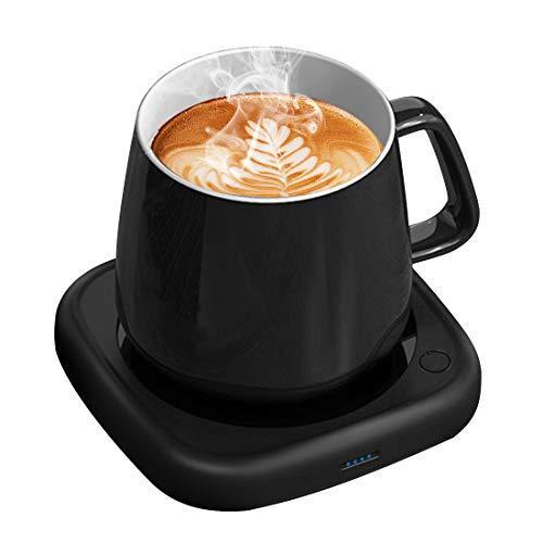 Coffee Mug Warmer Tea Cup Warmer Coffee Gifts for Desk Office Home Use, 8 Hrs Auto Shut-Off & 2 Temp Settings, Smart Plate Warmer for Coffee, Tea, Beverage, Milk, Hot Chocolate, Great Gift Choice