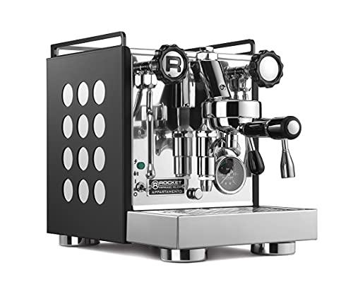 Rocket Appartamento Negro / Blanco   Portafiltro Compacto Máquina Espresso Máquina – Dos círculos con sistema de preparación E61