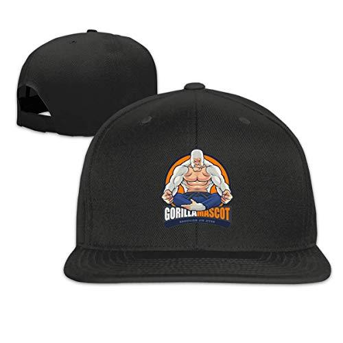 AEMAPE Gorillamascot Freizeit-Baseballkappe, klassisch, flach