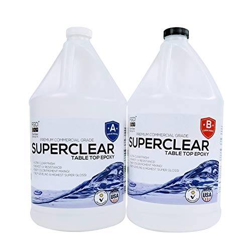 SuperClear highest UV-resistance Epoxy, 2 Gallon