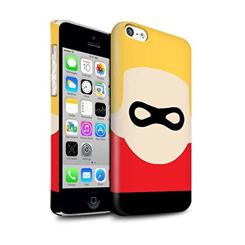 Stuff4® Duro Snap On beschermhoes/Cover/behuizing/telefoon voor Apple iPhone 5C / masker caratter/karton Animato Art Super Eroe Design