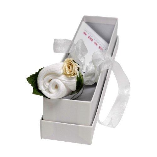 Fleur Bud certificat de naissance souvenir – Blanc classique