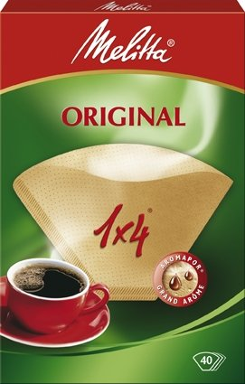 Melitta vier Tassen Kaffee Filter Papers, braun, 40 Stück