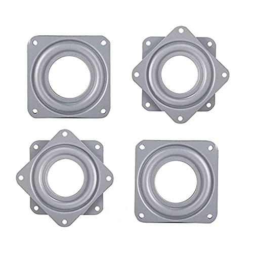 4 Stück Metalllager Drehlager 360 Grad Drehteller,71 * 71 mm Drehteller Kugelgelagert für Anzeigen-Regal und Möbe