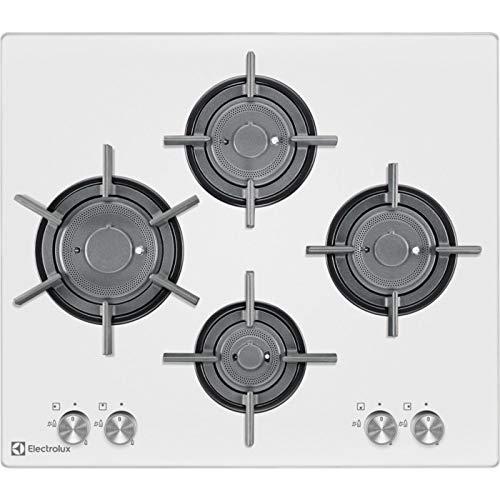 Electrolux - Piano cottura a gas PVF 645 UOB finitura cristallo bianco da 60cm