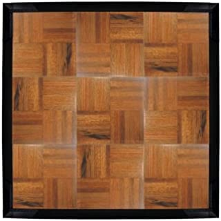 Teak IncStores Modular Grid Loc Dance and Garage Flooring 12 x 12 Tiles Sold Individually