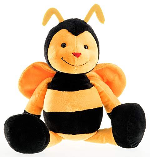 Schaffer Knuddel mich! 4352 Plüsch Biene Bine, Schwarz/Gelb, 21 cm