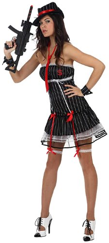 Atosa - Disfraz de gánster sexy para mujer, talla 38-40 (10437)