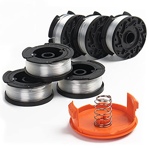 Durable AF-100 Weed Eater String and Cap Combo Set, Compatible with...