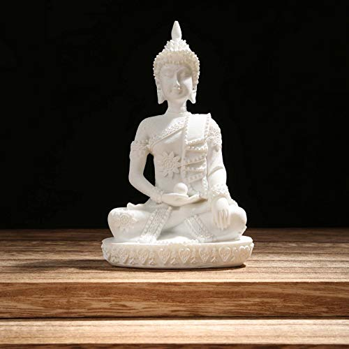 Carefree Fish Buddha Statue Minimalist Sandstone Decoration Buda Decor Bring Home a Ray of Sunshine 8Inch