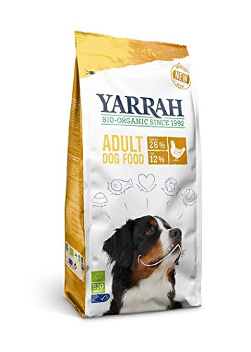 Yarrah Organic Dry Dog Food 4 x 2 kg - For Adult Dogs, Chicken Flavour