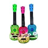Trifycore Kindergitarre Spielzeug ABS 4 Strings Simulation Mini-Gitarren-Kind-pädagogische Musikinstrument-Spielzeug-Geschenk für Vorschul Junge Mädchen -