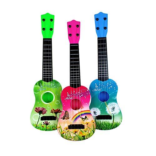 Trifycore Kindergitarre Spielzeug ABS 4 Strings Simulation Mini-Gitarren-Kind-pädagogische Musikinstrument-Spielzeug-Geschenk für Vorschul Junge Mädchen