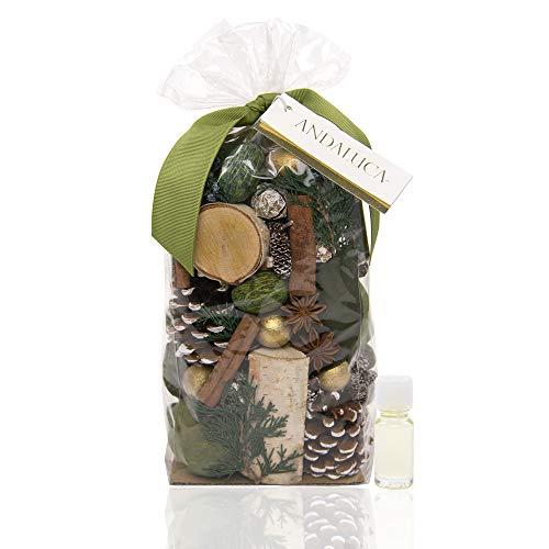ANDALUCA Evergreen Pine Scented Potpourri   Made in California   20 oz Bag + Fragrance Vial