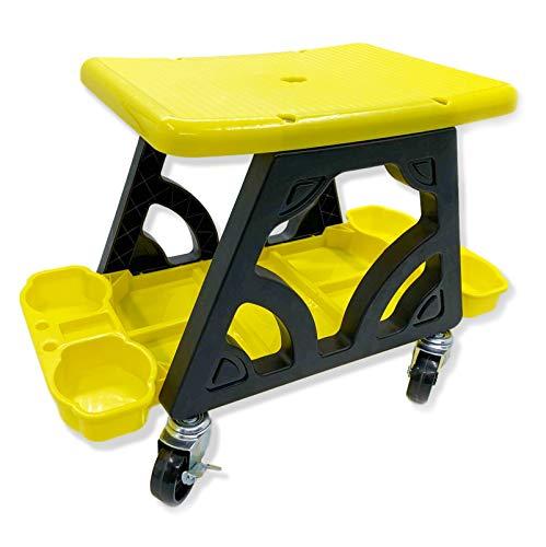 Garaje rodillo de heces con bandeja de herramientas de reparación, extraíble taller mecánico de la enredadera heces,para la tienda coche que detalla, pulido, limpieza ruedas,240 libras de capacidad