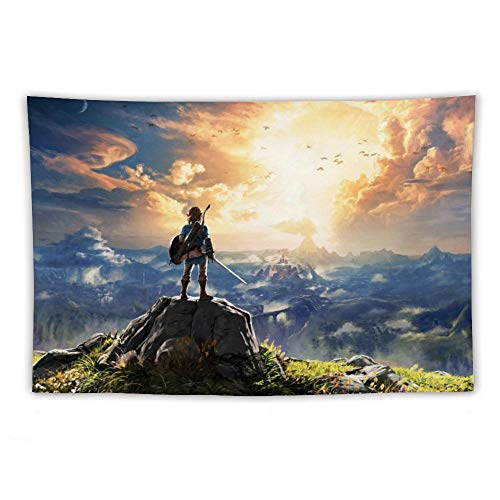 Tapestry,Legend of Zelda Breath of The Wild Link,Best Children Birthday Present,Cartoon Anime Wall Hanging Art for Bedroom Living Room College Dorm Home Decor,60x40 inches