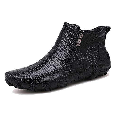 Botines Otoño Invierno al Aire Libre para Hombres Zapatos con Cremallera de...