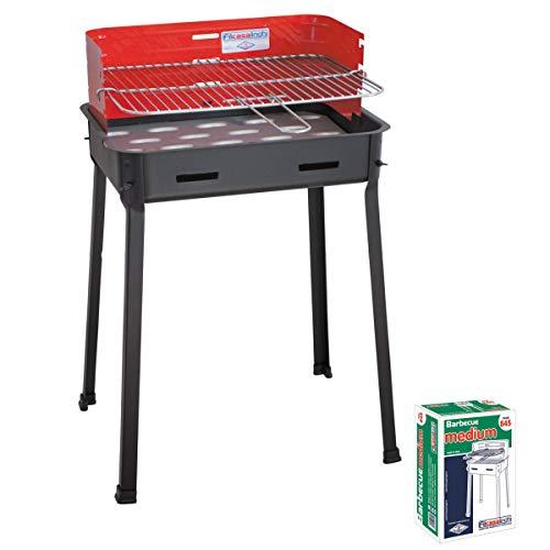 LAPILLO cdf00065 Barbecue à Charbon, Double Grille
