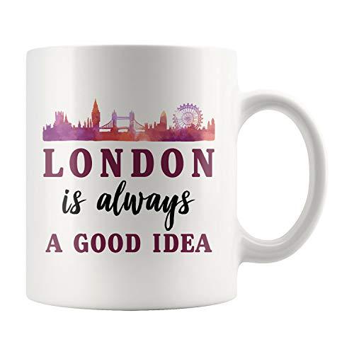 Taza de café Londres, regalo de Londres, regalo de vacaciones de Londres, Londres, taza de viaje de Londres, taza de viaje de Londres, regalo del Reino Unido, taza de café del Reino Unido, a639