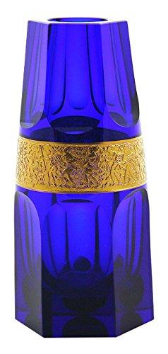 Moser Vase, Glas, Kobalt, 7x 7x 16cm