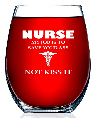 Funny Nurses Wine Glass