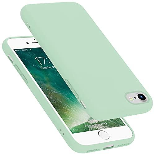 Cadorabo Custodia compatibile con Apple iPhone 7 / 7S / 8 / SE 2020 in LIQUID VERDE CHIARO - Morbida Cover Protettiva Sottile di Silicone TPU con Bordo Protezione - Slim Case Antiurto Back Guscio