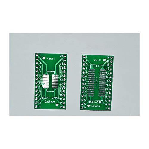 10 Teile/LOS SO/SSOP / SOIC/MSOP TSSOP28 / TSSOP28 Drehen DIP28 1,27 MM / 0,65 MM wiederum 2,54 MM IC Adapter Buchse/Adapterplatte / PCB