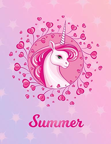 Summer: Unicorn Sheet Music Note Manuscript Notebook Paper – Magical Horse Personalized Letter S Initial Custom First Name Cover – Musician Composer … Notepad Notation Guide – Compose Write Songs