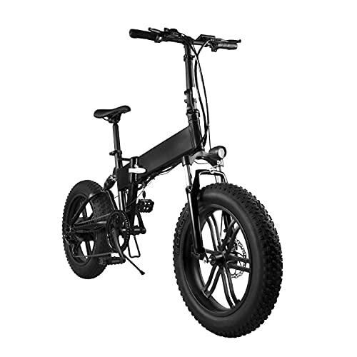 Bicicletta elettrica pieghevole per adulti BEISTE,mountain bike elettrica da 750W/20'con batteria rimovibile da 36 V / 10 Ah, bicicletta elettrica professionale con cambio a 21 velocità per adulti.