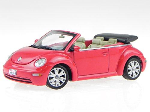 VW New Beetle Cabrio rot Verdeck schwarz Modellauto 59757 AutoArt 1:43