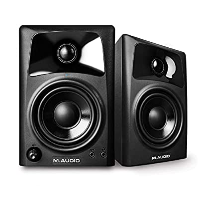 M-Audio AV32 | Compact Active Desktop Reference Monitor Speakers For Premium Playback, Professional Media Creation and Immersive Gaming Sound from inMusic Brands Inc.