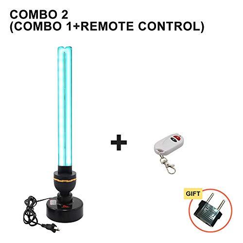 Lampe de désinfection UV à haute ozone 40W 110V 220V Lampes ultraviolettes domestiques Tube E27 Lampe germicide UVC Stérilisation Lumières-Combo_2_110V