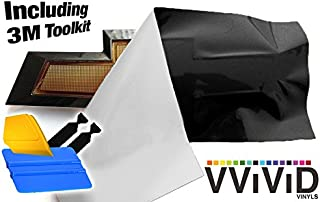 VViViD XPO Matte Black Chevy Bowtie Logo Wrap Kit (4 Rolls (11.8 Inch x 4 Inch) + 3M Toolkit)