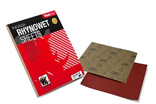 INDASA RED LINE Nassschleifpapier schleifpapier (P150 - P2500) - 230 x 280 mm / 50 Stück (Körnung: P800)