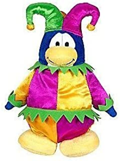 "SAVE $7.00 - VALUE DEAL on RARE Club Penguin Court Jester 6.5"" Plush - VALUE DEAL = Just the Rare Plush without Coin or Code"