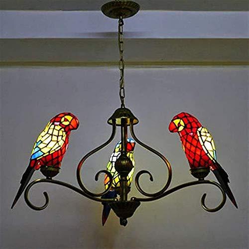 SXXYTCWL Luz Colgante Moderna 3 Aves Colgante Comedor de Cristal de Techo de la lámpara Pendiente Loros Restaurante Barra Sala de exhibición de Hotel Muebles para el hogar