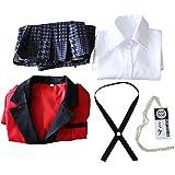 Yunobi Conjunto de disfraz de uniforme de anime – Disfraz de uniforme escolar japonés con abrigo, camisas, faldas, corbata, collar y medias, disfraces de fiesta para mujeres y niñas