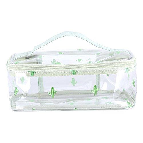 Fdit Sacchetto cosmetico Portatile Trasparente Sacchetto da Viaggio Impermeabile Pieghevole per la Cura Personale Prodotti di Bellezza Cosmetici Giocattoli Rifornimenti di Arte(Transparent)
